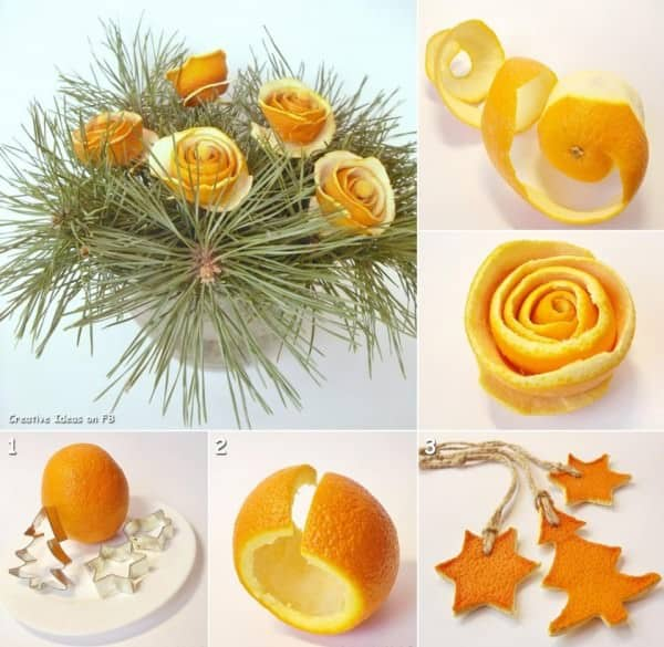 Diy: Christmas Bouquet Out Of Orange Peel 1 • Do-It-Yourself Ideas