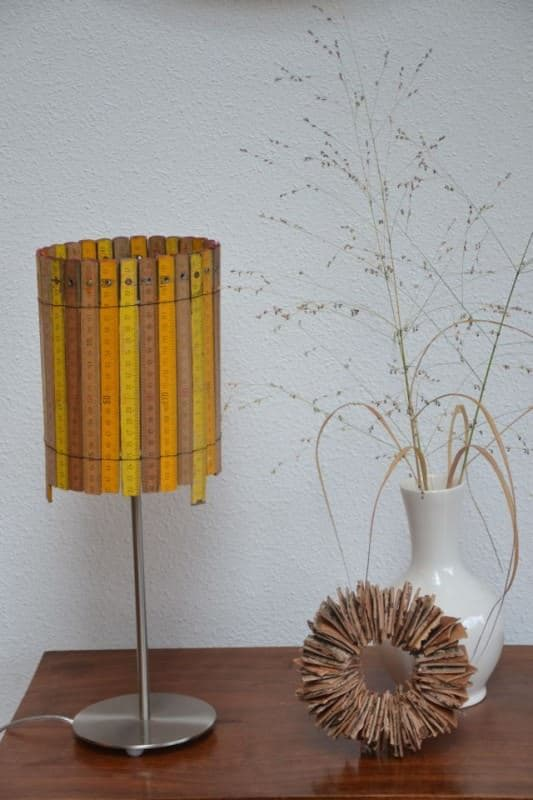 Lamp Made of Rulers Accessories Do-It-Yourself Ideas Lamps & Lights