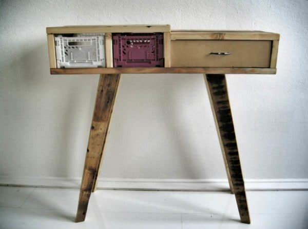 Recycled Wooden Pallet Desk 3 • Recycled Furniture