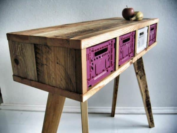 Recycled Wooden Pallet Desk 5 • Recycled Furniture