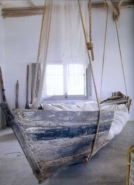 Upcycled Boat Bed 1 • Home Improvement