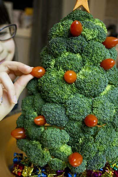 Broccoli Christmas Tree 1 • Wood & Organic