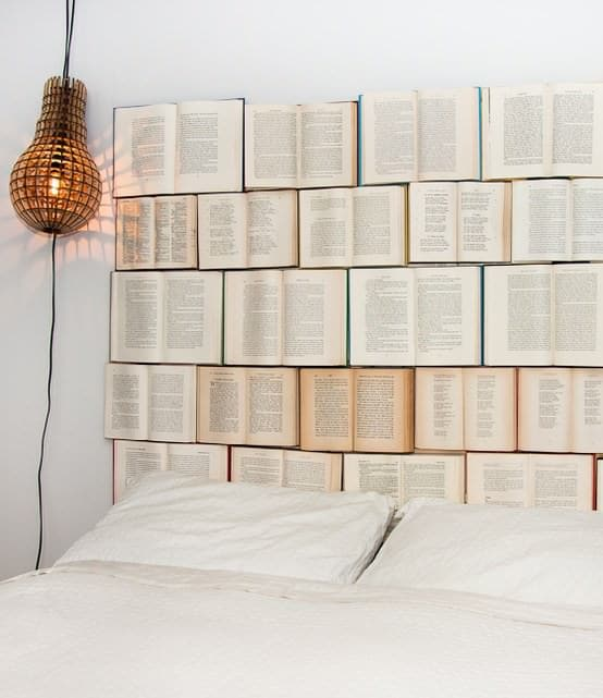 Diy : Book Headboard 1 • Do-It-Yourself Ideas