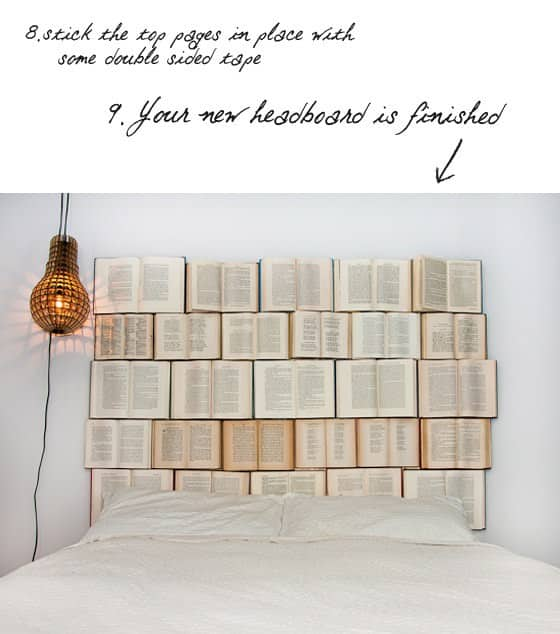 Diy : Book Headboard 8 • Do-It-Yourself Ideas