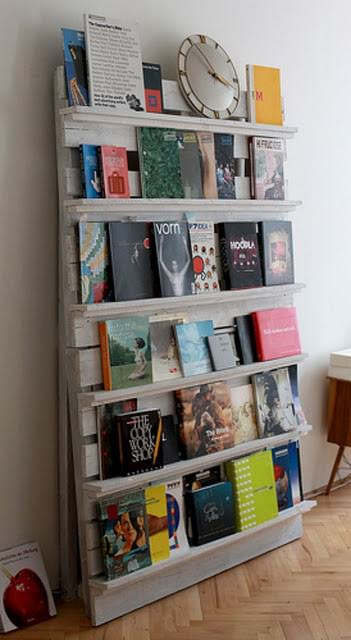Pallet As Bookshelves 1 • Recycled Pallets