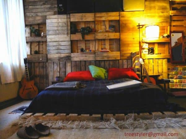 Pallet As Wall Decoration 1 • Recycled Pallets