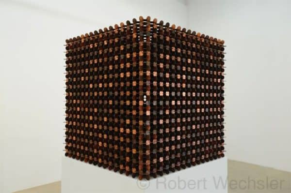 Cubes Made of 1000 Pennies 1 • Recycled Art