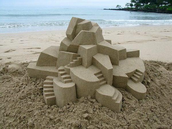 Geometric Sand Castles By Calvin Seibert 3 • Recycled Art