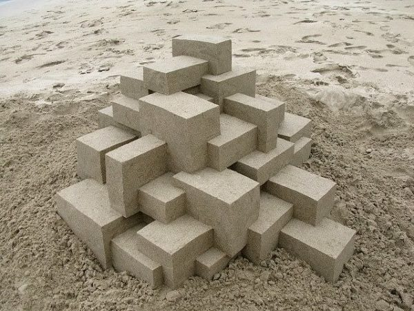 Geometric Sand Castles By Calvin Seibert 2 • Recycled Art