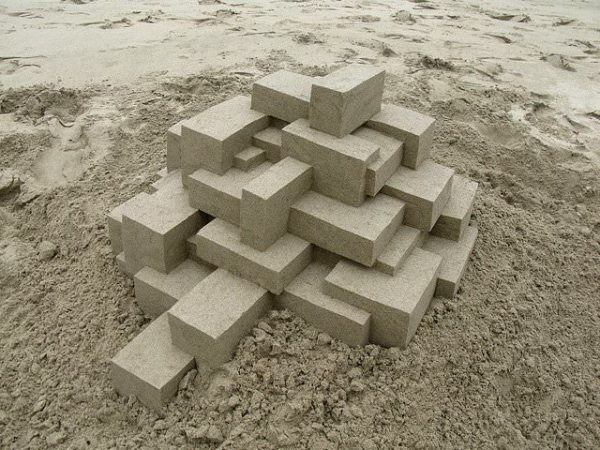 Geometric Sand Castles By Calvin Seibert 1 • Recycled Art