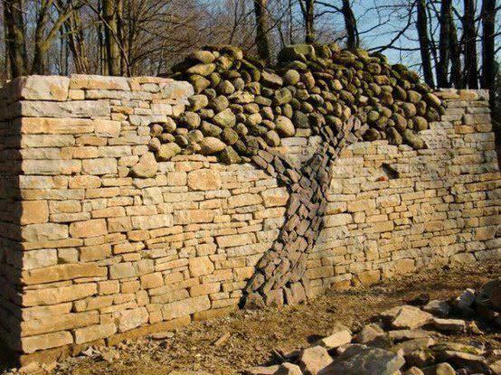 Handmade Stone Tree 1 • Recycled Art