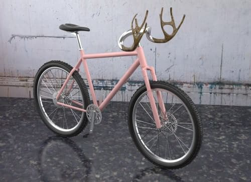 Antlers Bike 1 • Upcycled Bicycle Parts