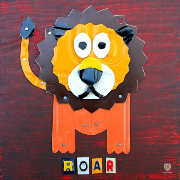 License Plate Animals 2 • Recycled Art