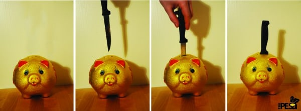 Piggy Bank Knife Holder Accessories Do-It-Yourself Ideas