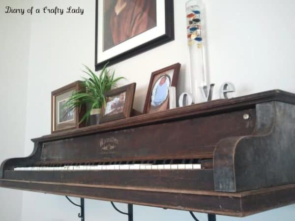 Piano Wall Shelf 3 • Recycled Furniture