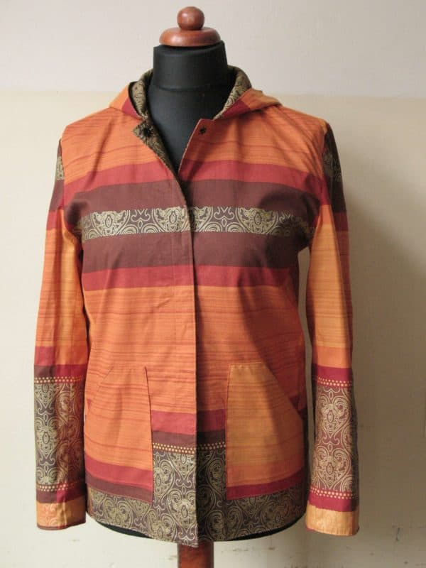 Recycled Curtains into 2side Jacket Clothing