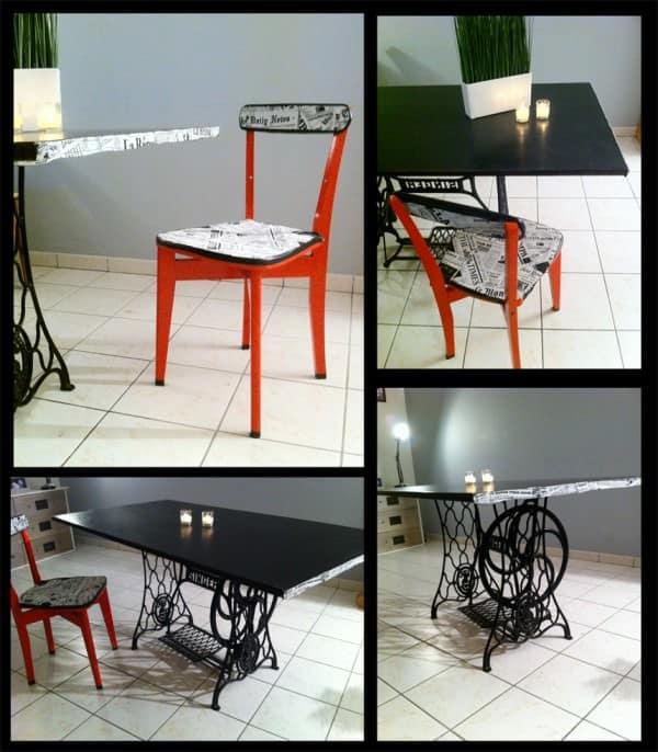 Table-de-salle-a-manger-et-Chaise-x4