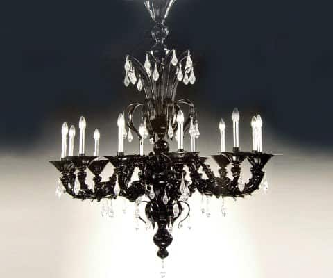 Glass-chandelier-with-glass-drops-and-crystal