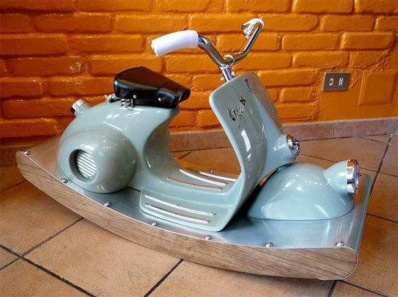 Vespa Rocking Horse 1 • Recycled Furniture