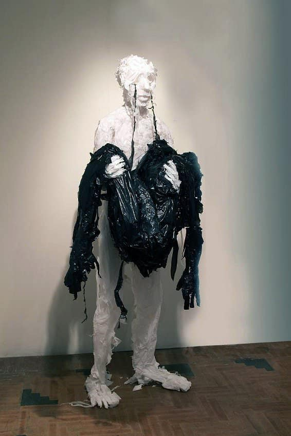 Discarded Plastic Bags Sculptures by Khalil Chishtee 9 • Recycled Art