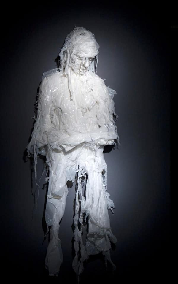 Discarded Plastic Bags Sculptures by Khalil Chishtee 7 • Recycled Art