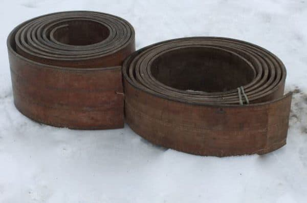 Repurposed Leather Industrial Drive Belt Coasters 1 • Do-It-Yourself Ideas