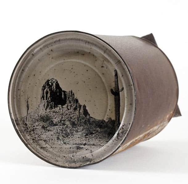 Photography on Old Rusty Cans 1 • Recycled Art