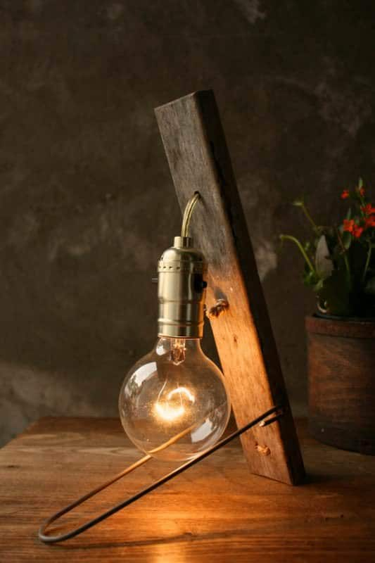 Vintage Wood Lamp 1 • Lamps & Lights