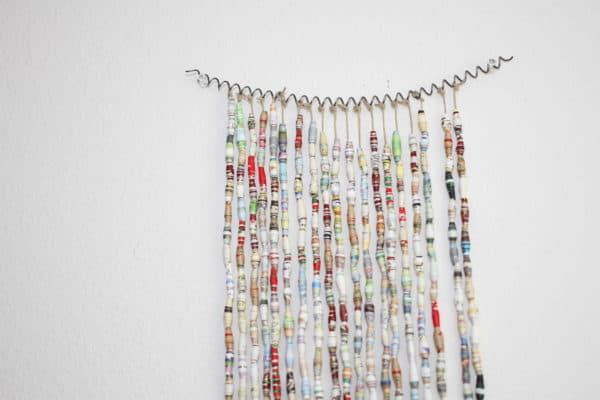 Book Bead Curtain Recycling Paper & Books