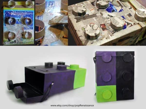 Lego School Back Bag Recycled Cardboard