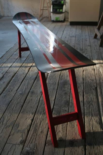 Repurposed Snowboard Into Bench 1 • Recycled Furniture