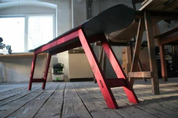 Repurposed Snowboard Into Bench 3 • Recycled Furniture