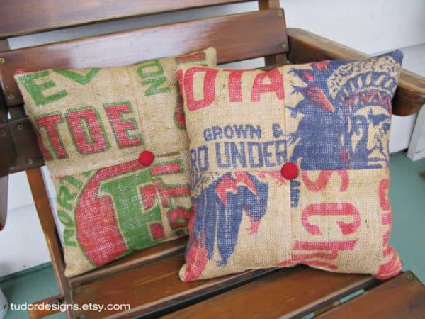 Burlap-Pillows
