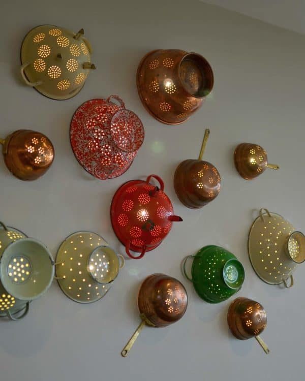upcycled-colander-wall-lights