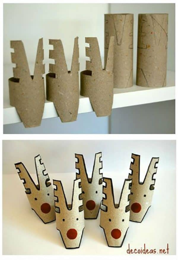 10 Christmas Craft Projects Made Out Of Upcycled Toilet Paper Rolls 11 • Do-It-Yourself Ideas