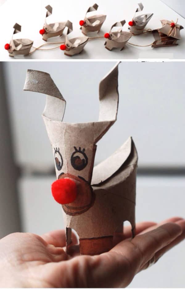 10 Christmas Craft Projects Made Out Of Upcycled Toilet Paper Rolls 17 • Do-It-Yourself Ideas