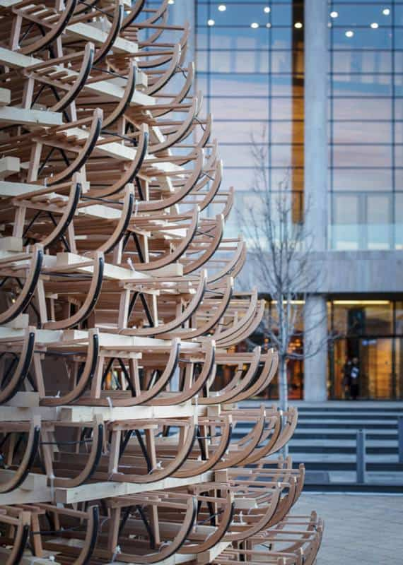 4-hello-woods-christmas-tree-made-out-of-365-sleighs-at-the-palace-of-arts-budapest