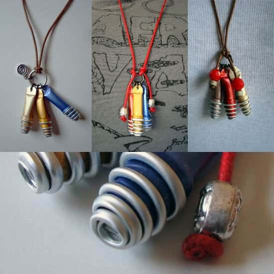 10 Jewelry Ideas Made from Recycled Nespresso Capsules 1 • Upcycled Jewelry Ideas