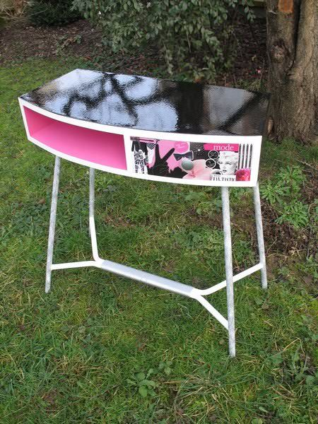 Pin Up Relooked Vintage Dresser Recycled Furniture