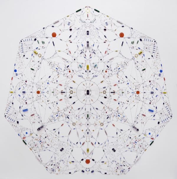 Technological Mandalas Made from Soldered Electronic Components Recycled Art Recycled Electronic Waste