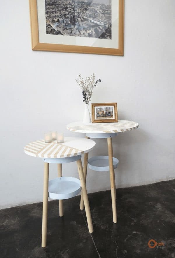 Side Table Made from Upcycled Paint Bucket 1 • Do-It-Yourself Ideas