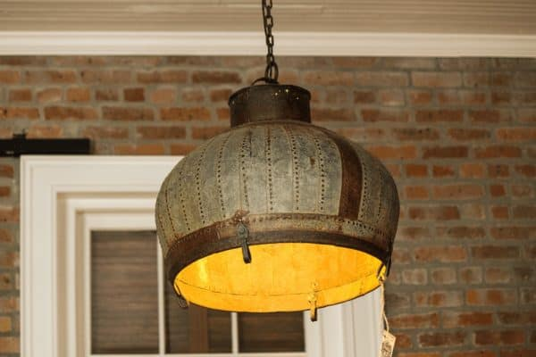 Repurposed Industrial Dome Light 1 • Lamps & Lights