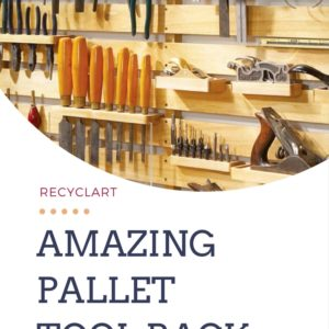 Hold Everything Pallet Tool Rack 3 • Do-It-Yourself Ideas