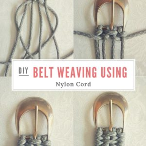 Tutorial: Belt Weaving Using Nylon Cord 11 • Do-It-Yourself Ideas