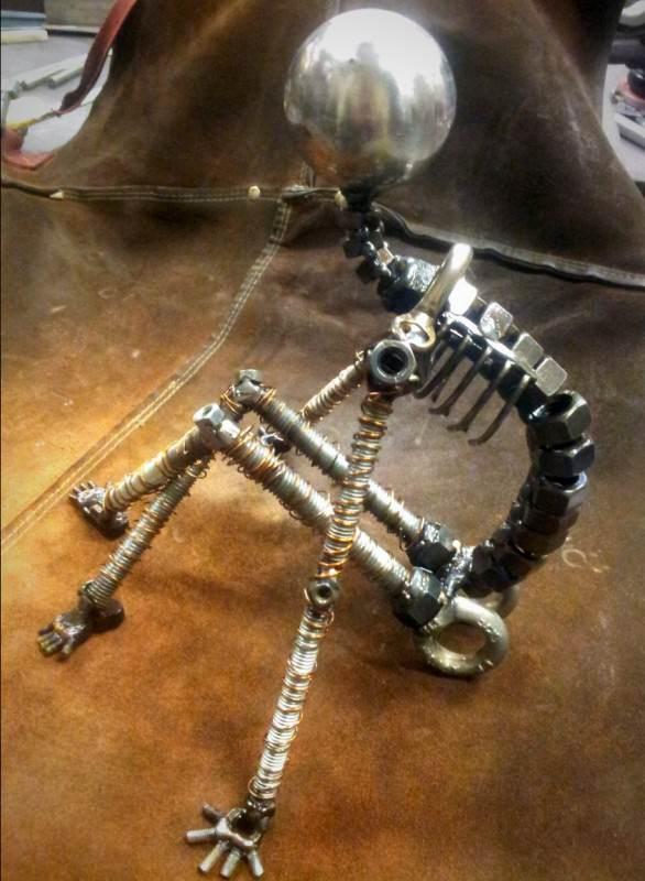 Un Moment De Repos - Screws and Bolts Sculpture 5 • Recycled Art