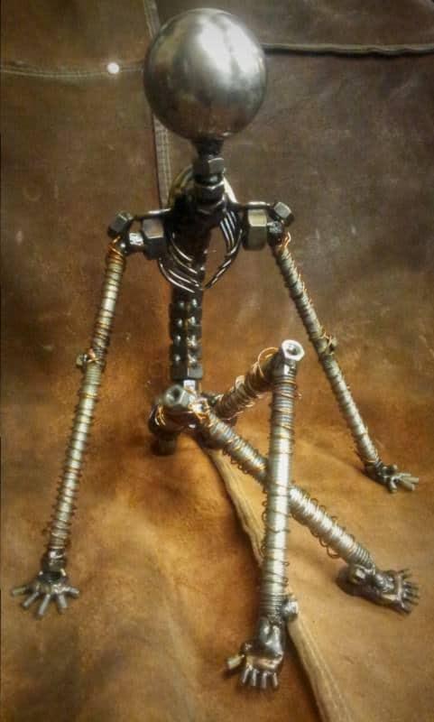 Un Moment De Repos - Screws and Bolts Sculpture 1 • Recycled Art