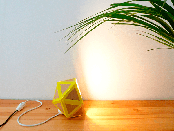 recycled-cardboard-origami-lamp-diy