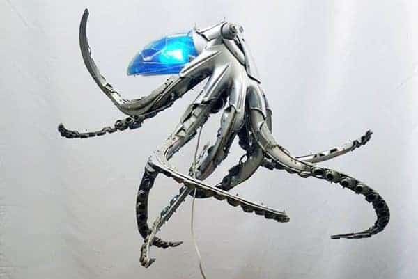 Upcycled Hubcaps into Animal Sculptures Mechanic & Friends Recycled Art