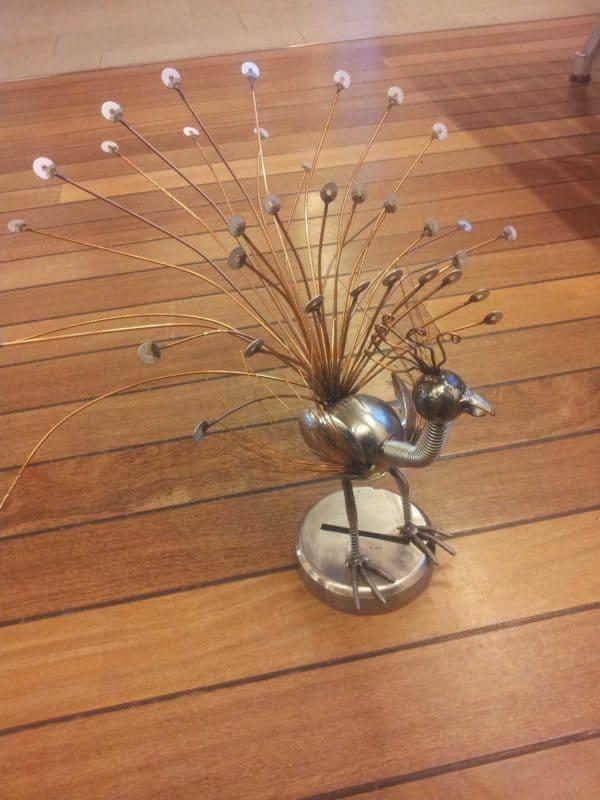 Léon: The Metal Peacock 1 • Recycled Art
