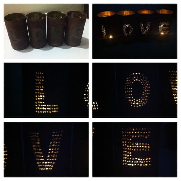 Candle Light From Upcycled Old Cans Accessories
